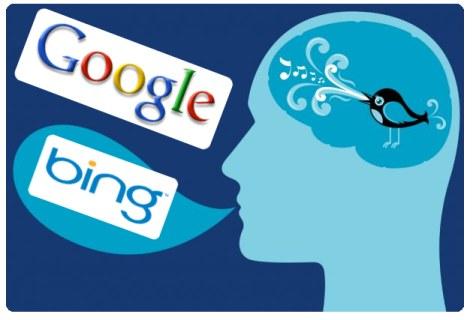 twitter bing google