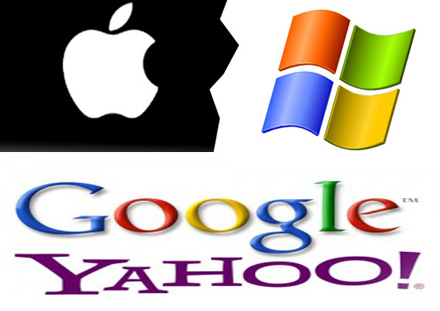 microsoft vs apple vs google vs yahoo