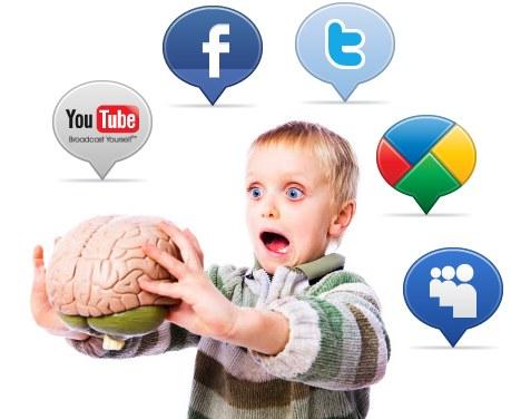 redes sociales niños cerebro estudio