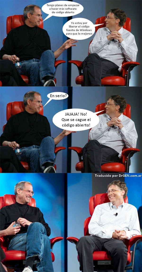 Steve Jobs Bill Gates humor