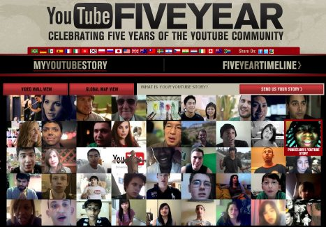 Youtube aniversario