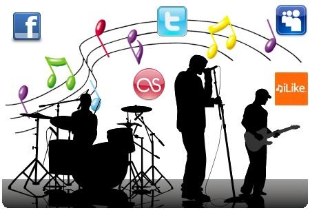 Medios sociales Musica