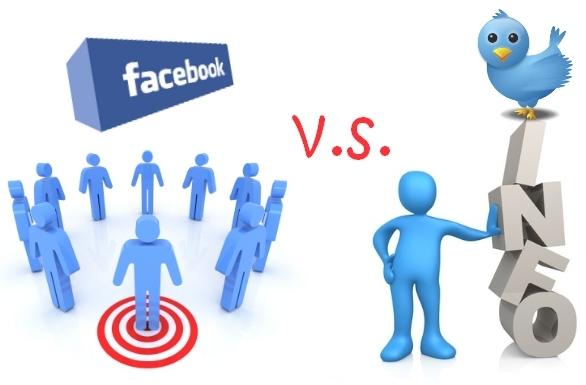 facebook vs twitter redes sociales