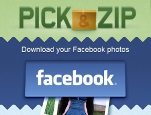 pick&zip descargar fotos facebook
