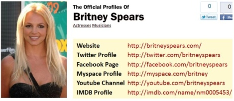 the offical profile of britney spears