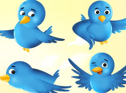 set iconos twitter