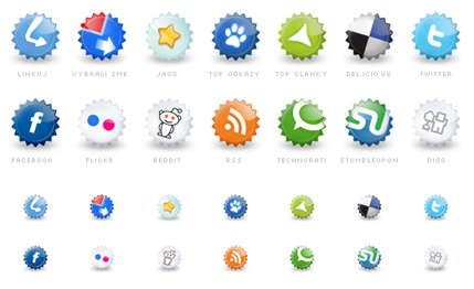 set iconos sociales