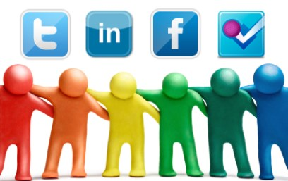 amistad redes sociales facebook twitter linkedin foursquare
