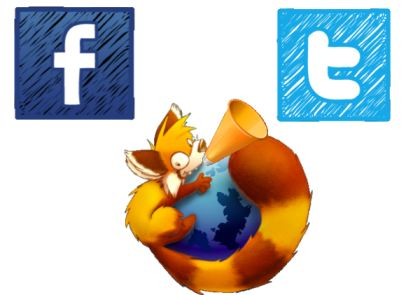 firefox extension facebook twitter