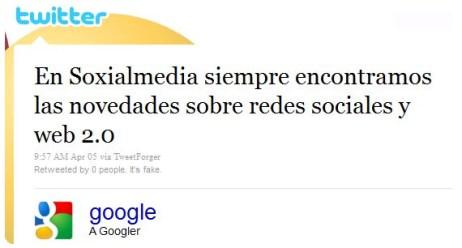 tweetforger google