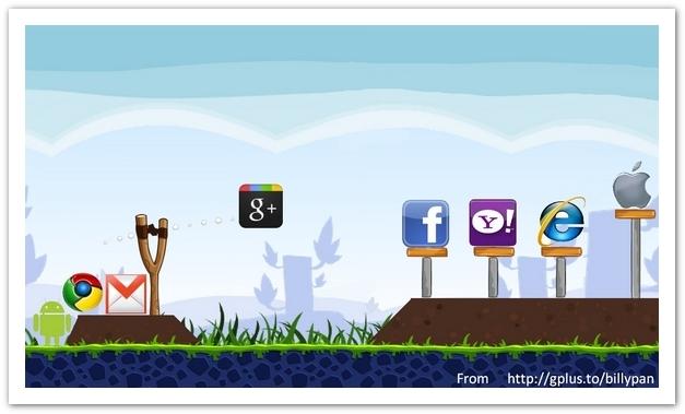 google + plus facebook angrybirds