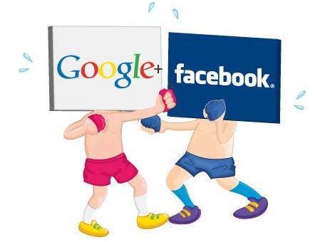 gif animado google plus facebook redes sociales