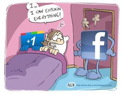 google + plus facebook