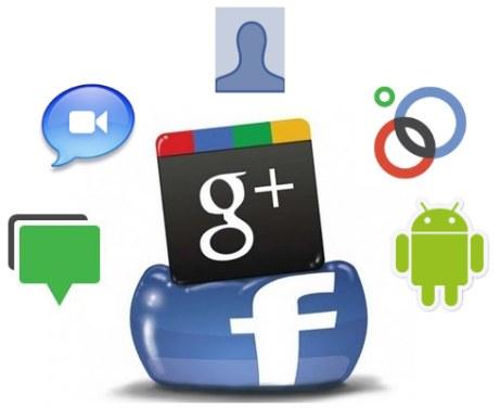 google plus versus facebook funciones infografia