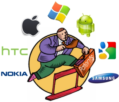 infografia patentes compañias tecnologia android apple google microsoft