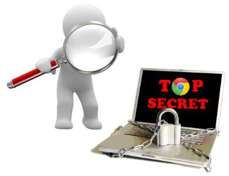 privacidad navegador chrome ocultar