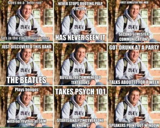 college freshman meme internet