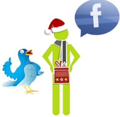 compras navidad redes sociales regalos facebook twitter estudio