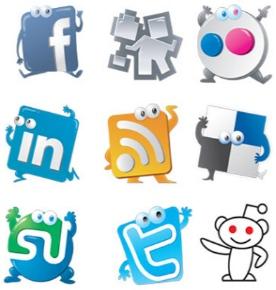 social media redes sociales icono