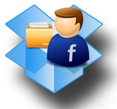 dropbox archivos compartir facebook amigos