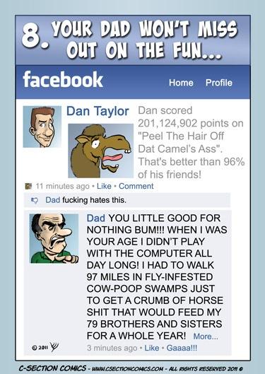 papa facebook humor geek