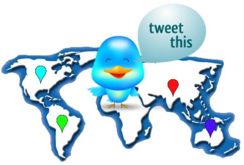 twitter mapa tweet tiempo real aplicacion