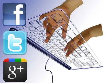 atajos teclado facebook twitter google+