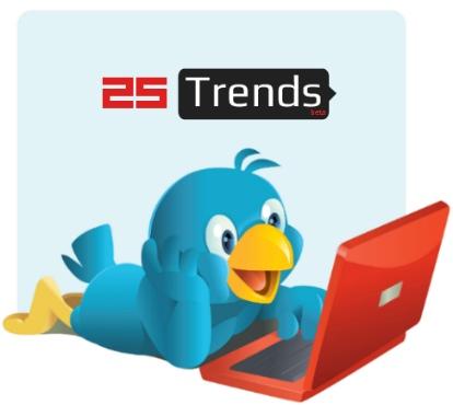 25 trends aplicacion herramienta estadistica twitter
