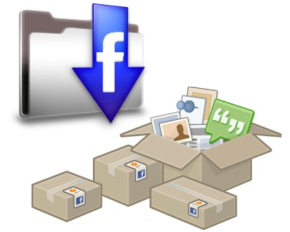 descargar archivo facebook cuenta copia