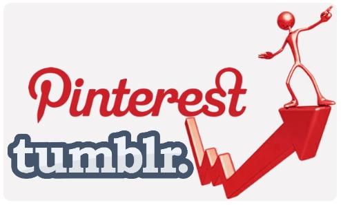 trafico tumblr pinterest estadisticas datos populares redes sociales