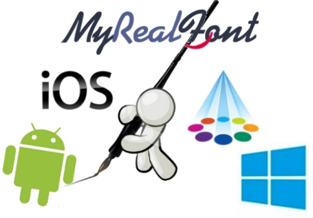 myrealfont aplicacion android ios windows samsung apps