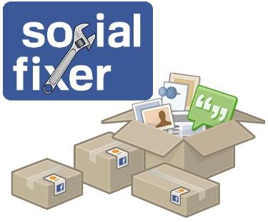 social fixer facebook extension personalizar cambios usuarios