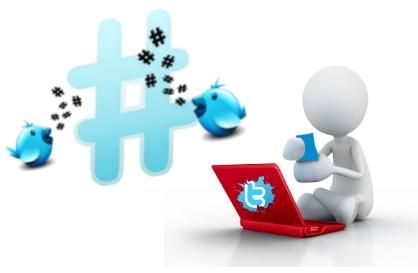 etiquetas hashtag tweet twitter usuarios infografia