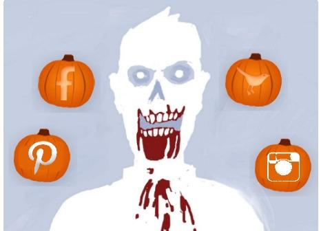 halloween zombie apocalipsis social media redes sociales