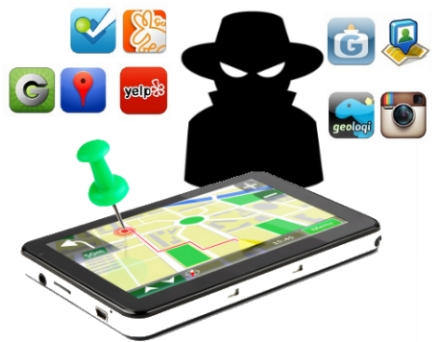 privacidad seguridad datos personales smartphone celular movil apps gps ubicacion check in