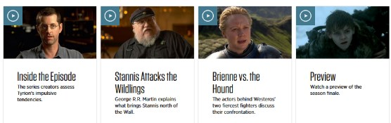 hbo episode guide game of thrones