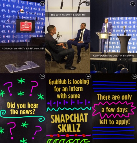 snapchat GrubHub NBA marketing estrategias